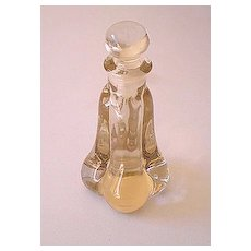 Heavy Glass Perfume Bottle With Stopper