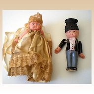 1920's Celluloid Bride & Groom Dolls
