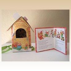 Hallmark Santa's Workshop w/ Bear & Book