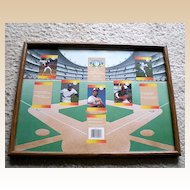 Wood Frame With Unique Baseball Theme