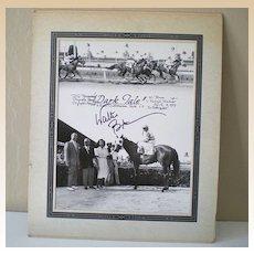 Original 1959 Race Track Photograph Signed By Jockey