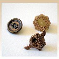 (2) Pinbacks Navy Reserve & Credit Managers Association