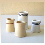 (4) Vintage Individual Size Restaurantware Creamers