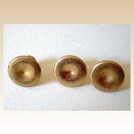 Set of (3) Matching Gold Filled Men's Studs