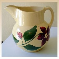 LARGE 5 Pint Watt Pottery Pitcher Starflower Pattern
