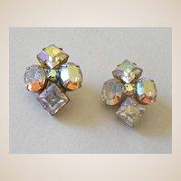 Fancy Vintage Rhinestone Earrings