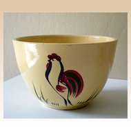 Large Vintage Watt Pottery Mixing Bowl Rooster #65