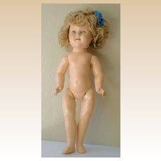 1930's Shirley Temple Composition Doll Ideal Toy Co. 18 Inch