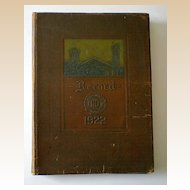 1922 Yearbook Valparaiso Indiana The Record