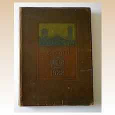 1922 Yearbook Valparaiso Indiana The Record