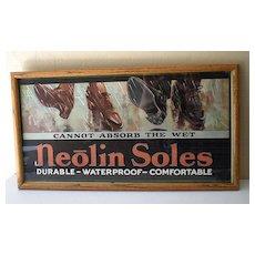 Framed 1920's Advertising Print Neolin Soles