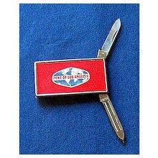 """Vintage Pocket Knife, File & Money Clip """"Port of Los Angeles"""""""