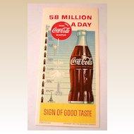 1957 Coca Cola Advertising Ink Blotter