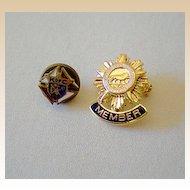 (2) Small Knights Of Columbus Pins