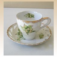 Vintage MARCO Teacup and Lacey Saucer