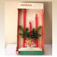 Large NOMA  3  Staggered Candles With Halos In Original Box