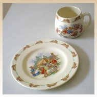 Royal Doulton Bunnykins China Child's Set Cup and Plate Set