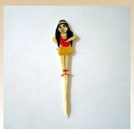 1920's Hawaiian Hula Girl Celluloid Pick *RARE*