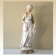Large Vintage Bisque Statue Fancy Lady Made in Germany