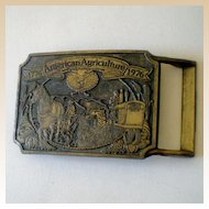 Chevron Oil Chemical Advertising Belt Buckle Agriculture Ortho
