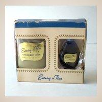 Vintage Bourjois Evening in Paris Boxed Set Cologne & Lotion