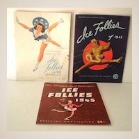 (3) 1940s Ice Follies Programs Great Advertising