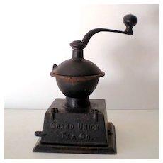 "Scarce Antique Coffee Grinder ""Grand Union Tea Co."""