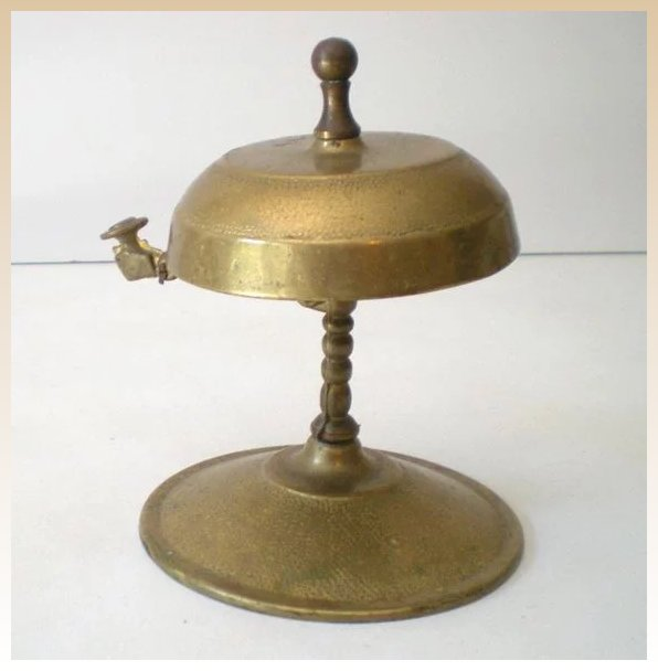 Click to expand - Solid Brass Victorian Desk Bell With Knocker : California Girls