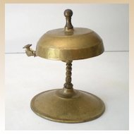 Solid Brass Victorian Desk Bell With Knocker