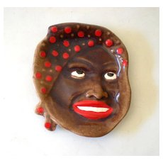 Gorgeous Black Americana Mammy Face Wall Plaque