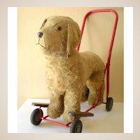 LARGE Plush Ride On Toy Dog On Wheels Lines Bros. Ireland