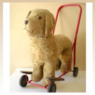 LARGE Plush Ride On Toy Dog On Wheels Lines Bros. Ireland