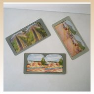 (3) Color Stereoview Cards 1880s