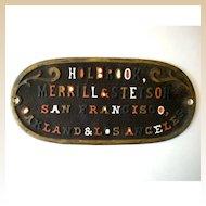 Antique Cast Iron Advertising Sign San Francisco