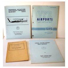 (4) Vintage Aviation Pilot Publications Books