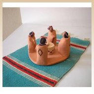 Fabulous Signed American Indian Pottery Sculpture