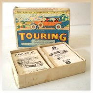 1930s  Touring Automobile Card Game In Box Parker Brothers
