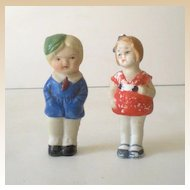 (2) Vintage Bisque Dolls Boy and Girl