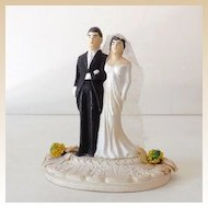 Vintage 1940s Chalkware Wedding Cake Topper