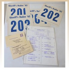 1960s Rodeo Registration & Arm Bands Monte Montana