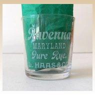 Pre Prohibition Advertising Shot Glass Ravenna Maryland