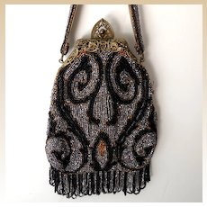 Gorgeous Antique Victorian Beaded Purse