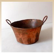 Primitive Hand Forged Copper Pot