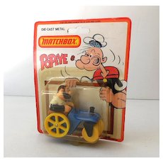 1980 Die Cast Metal Matchbox Popeye Bluto's Roller MOC