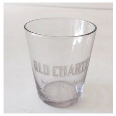 Pre Prohibition Advertising Shot Glass Old Charter
