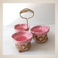 Pink Mid Century Modern 4 Piece Pottery Center Piece