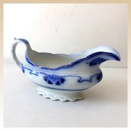 Gorgeous Flow Blue Gravy Boat Lorne Pattern By Grindley