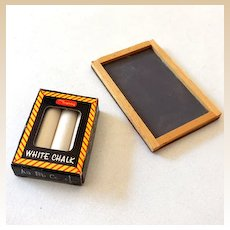 Dollhouse Miniature Chalkboard & Chalk in Box
