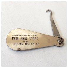 Vintage Advertising Metal Shoe Horn Button Hook