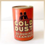 Unopened Tin Gold Dust Cleanser Black Americana